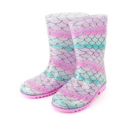Kids Mermaid Wellington Boots