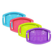 Bright Colour Trays with Handles
