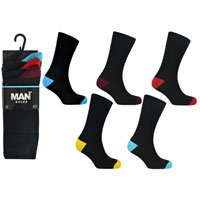 Mens 3 Pack Man Basic Heel And Toe Socks