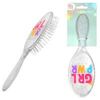 Girl Power Glitter Hair Brush