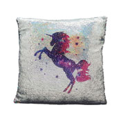 Unicorn Sequin Filled Cushion