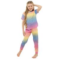 Girls Rainbow Pyjama Set