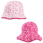 Girls Floral Wide Brim Hat