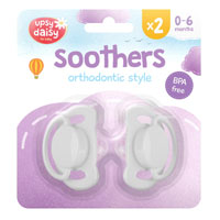 Silicone Soothers 0-6 Months 2 Pack