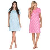 Ladies Cotton Jersey Nightie Assorted Designs