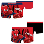 Boys Spiderman Boxer Shorts 2 Pack