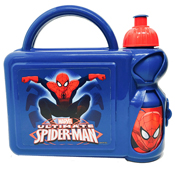 Ultimate Spiderman Hard Lunch Box and Bottle Set