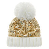 Girls Gold Sequin Hat 2-6 Years