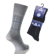Mens Non Elastic Pattern Socks