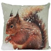 Winter Squirrel Cushion Cover