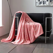Metallic Cube Faux Mink Throw Pink
