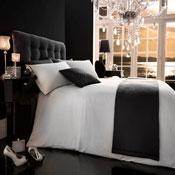 5 Piece Bed in a Bag Set Diamante Silver