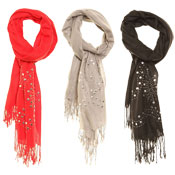 Fashion Scarf Evie Diamante & Stud Design