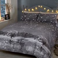 Christmas Duvet Set Starry Nights Mono
