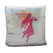 Rainbow Fairy Sequin Filled Cushion