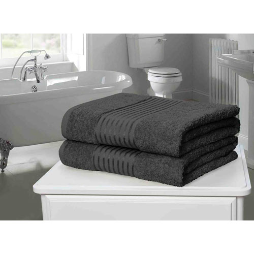 Windsor Egyptian Combed Cotton Bath Towel Grey
