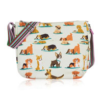 Dog Multi Purpose Crossbody Bag Biege