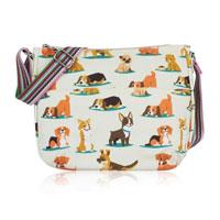 Dog Multi Purpose Crossbody Bag Beige