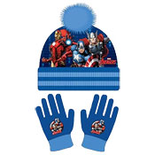 Avengers Childrens Bobble Hat & Gloves Set