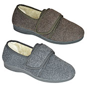 Mens Slipper With Velcro Strap