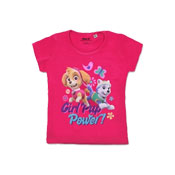 Official Girls Paw Patrol Pup Power Sleeve Printed T-Shirt
