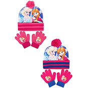Official Disney Frozen Bobble Hat & Gloves Set