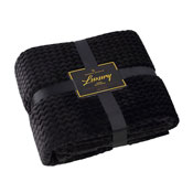Luxury Throw Wave Black