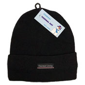 Childrens Thermal Beanie Hat With Lining
