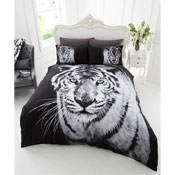 3D White Tiger Duvet Set