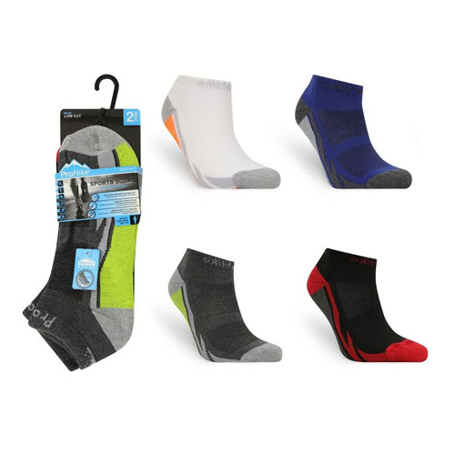 Mens Low Cut Cushion Sports Trainer Socks