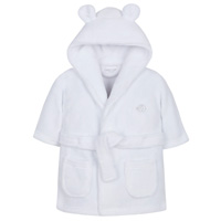 Baby Elephant Robe White