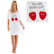 Ladies You Are Berry Cute Sleepy Tee Nightie