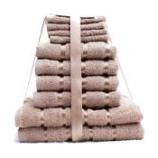 10 Piece Towel Bale Beige Egyptian Cotton