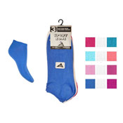 Plain Trainer Socks Dark Pastel