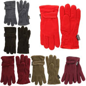 Ladies Anti Piling Thinsulate Fleece Gloves With Adjuster