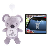 Baby On Board Teddy Bear Car Sign