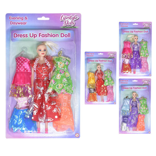 Doll With 4 Dresses
