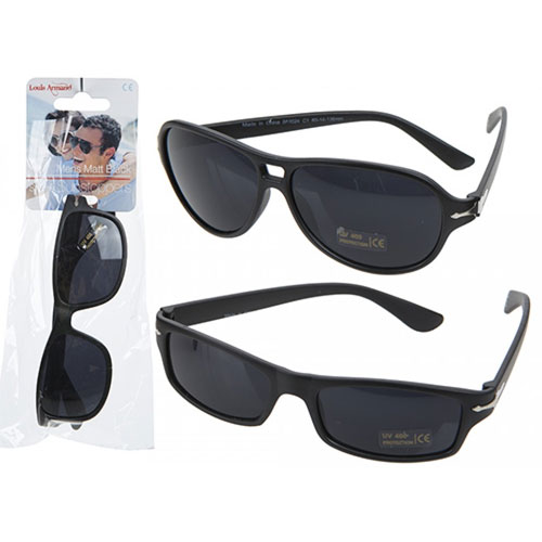 Mens Matt Black Sunglasses