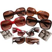 Adults Plastic Frame Deluxe Hinge Sunglasses