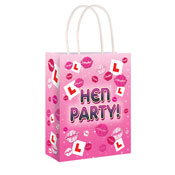 Hen Party Pink Bag With Handles