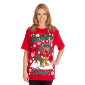 Christmas T-Shirt Red Dachshund Puppy