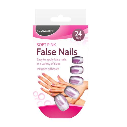 Soft Pink False Nails 24 Pack