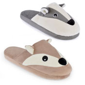 Ladies Soft Fleece Mules Badger/Fox