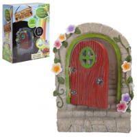 Fairy Garden Door with Solar Light And Steps