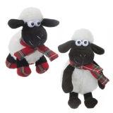 Comical Sheep With Tartan Trim 7inch Soft Toy