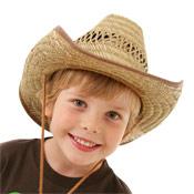 Childrens Straw Cowboy Hat