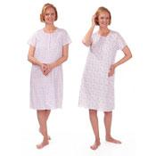Ladies Poly Cotton Short Sleeve Nightie Flower Print