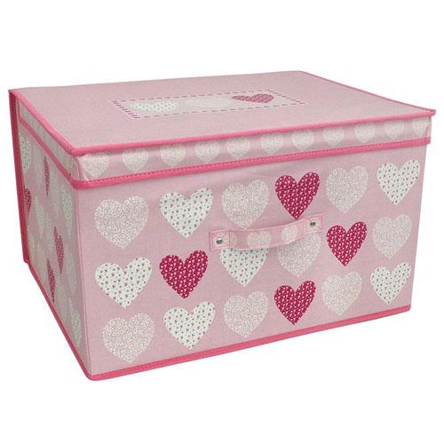 Hearts Blush Design Jumbo Storage Chest
