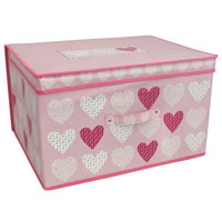 Hearts Blush Design Jumbo Storage Chest