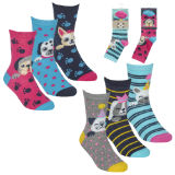 Girls 3 Pack Design Dogs Socks